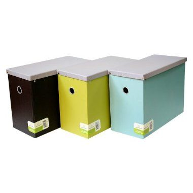 greenroom recycled file box with hanging files - Hanging File Box