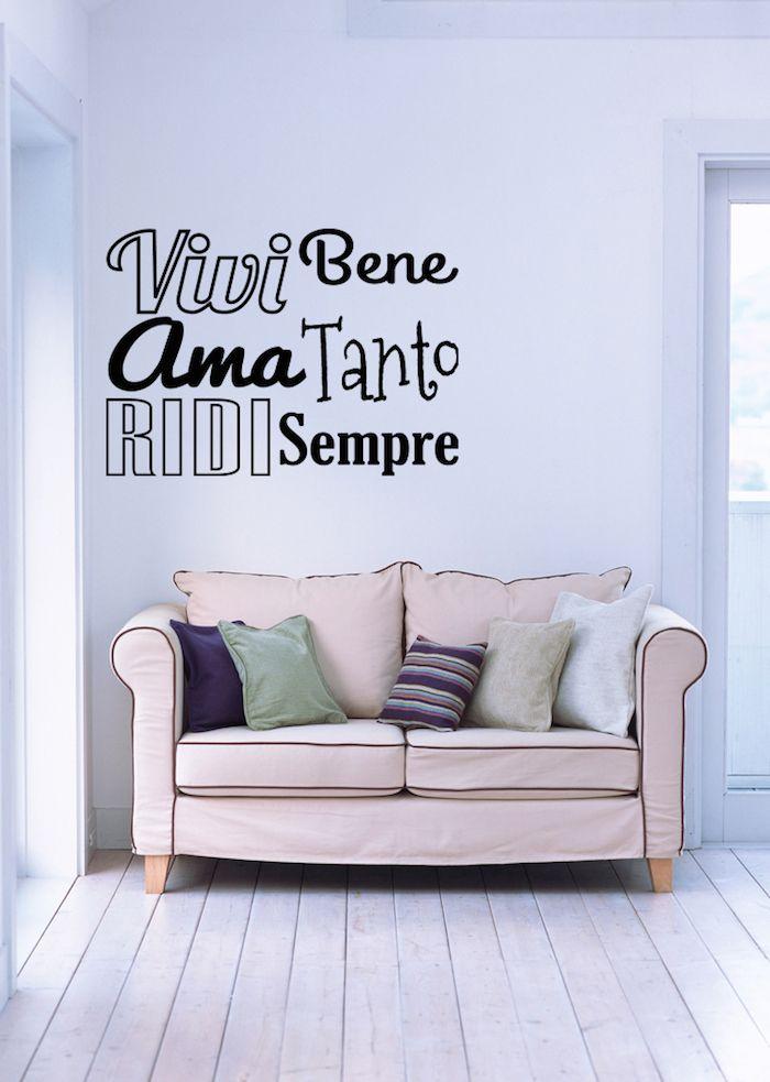 Casa dolce casa  Wall stickers  Frasi motivazionali  Vivi Ama Ridi  elzapoppin  Varie  Wall Stickers Wall decals e Wall