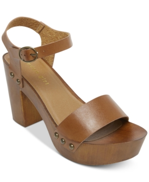 c582a0264a0 Madden Girl Lift Wooden Platform Sandals - Brown 9.5M