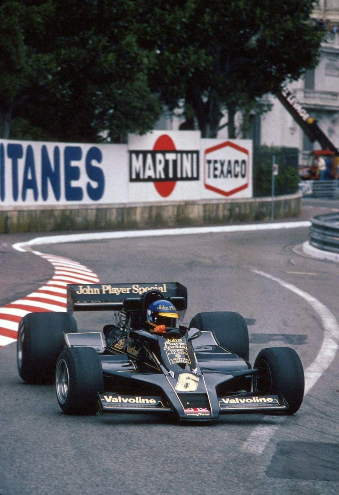 Classic F1 Photos Ronnie Peterson Lotus Ford 78 1978 Monaco Gp