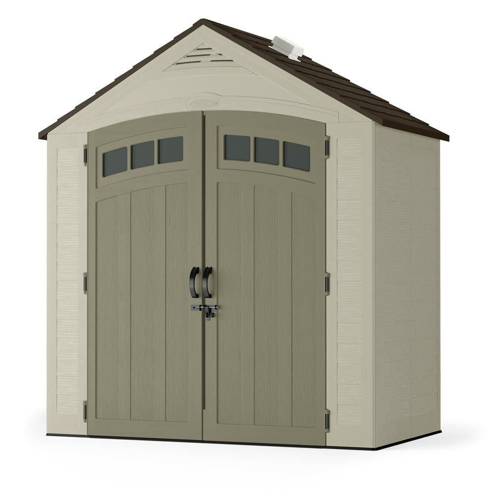 Suncast Vista 7 Ft 4 In X 4 Ft 1 In Resin Storage Shed Bms7402 Shed Storage Plastic Sheds Building A Shed