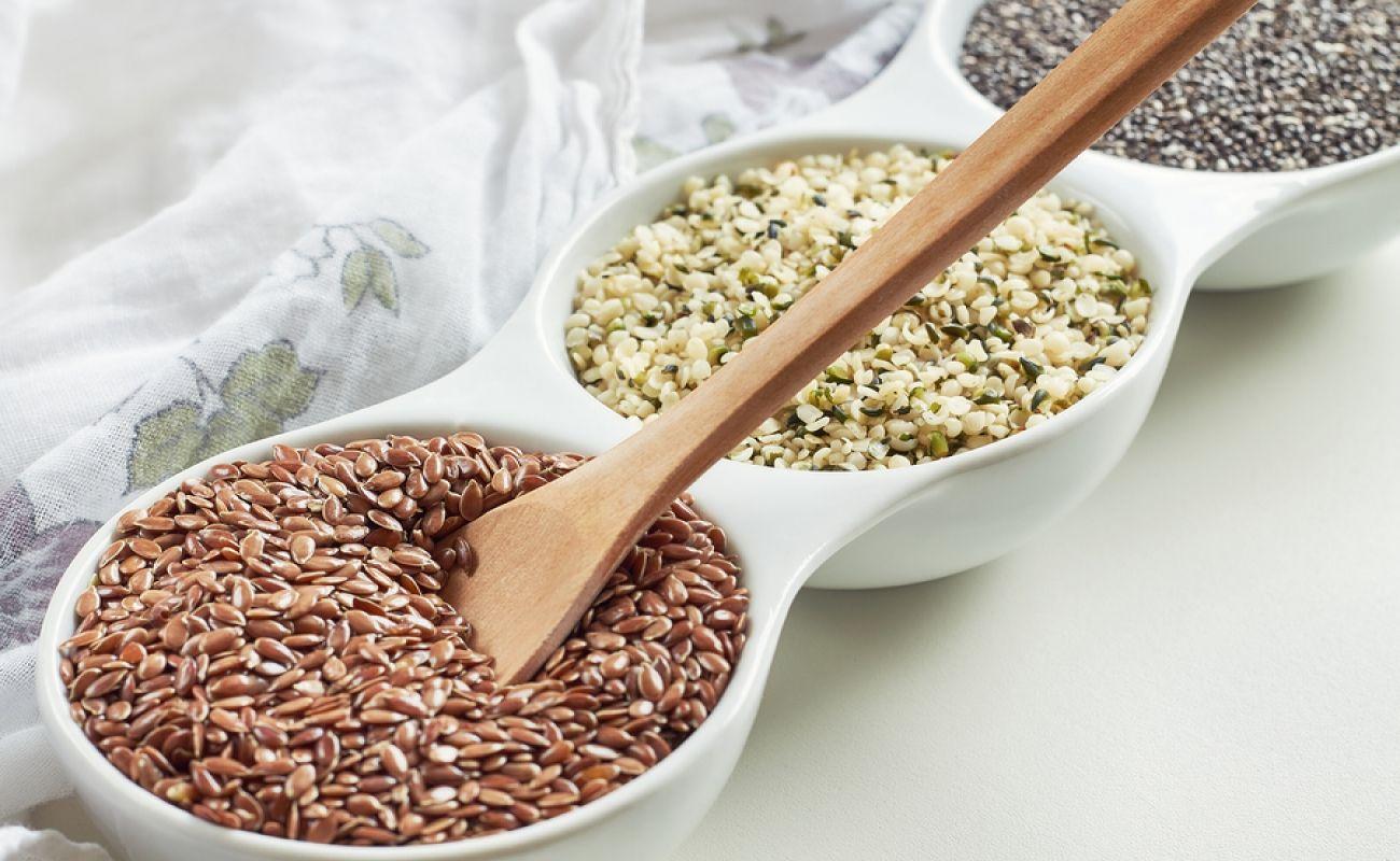 Flax Seed Vs Hemp Seed High fiber low carb, Low carb