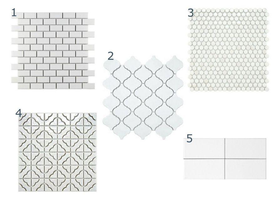 Backsplash tile options from Home Depot at thisbendablelife.com - kitchen renovation