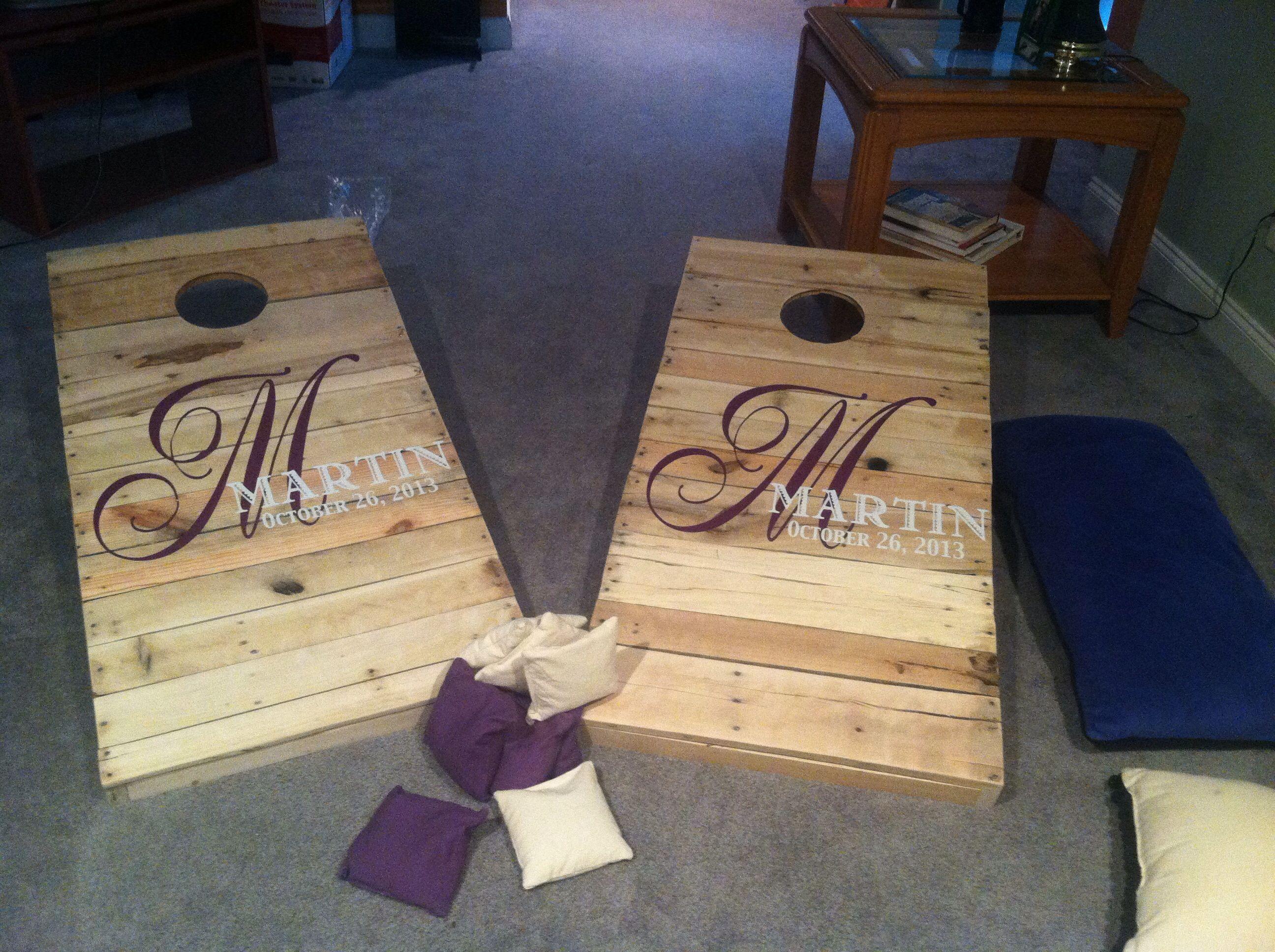 Pallet Cornhole Boards Custom Order Wedding