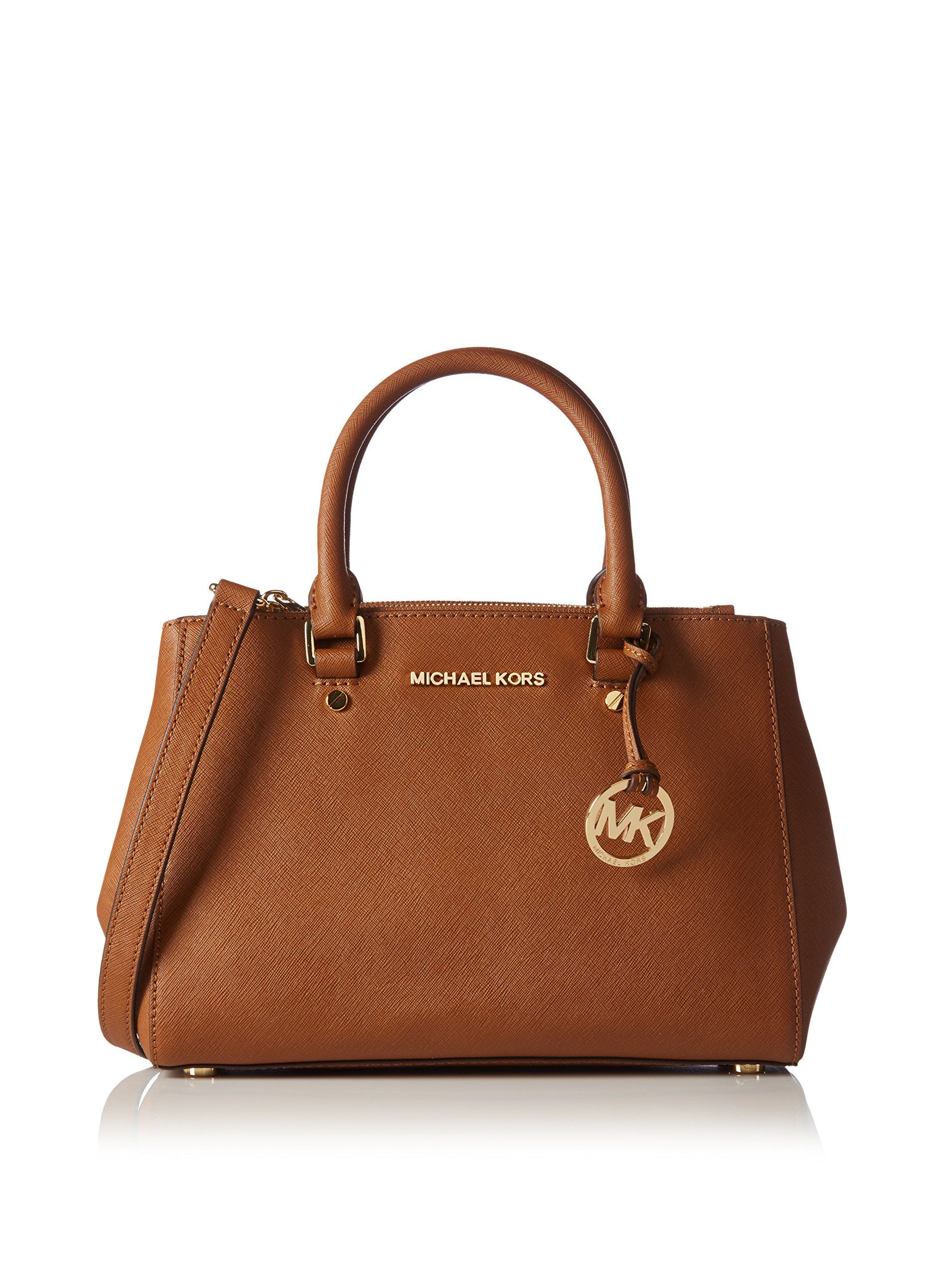 2cd0608cc960 Amazon.com: Michael Kors Sutton Small Saffiano Leather Satchel in Luggage:  Shoes