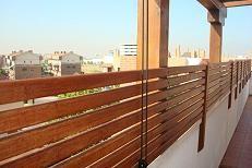 Vallas de terraza barandas de madera rejados pinterest - Vallas para terrazas ...