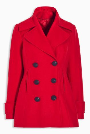 Buy Red Peacoat from the Next UK online shop | New Wardrobe ...