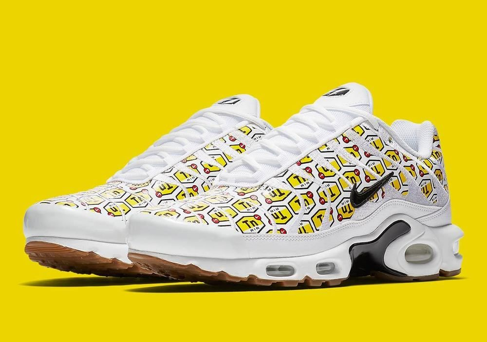 Nike Air Max Plus TN Tuned All Over Print AOP White Yellow