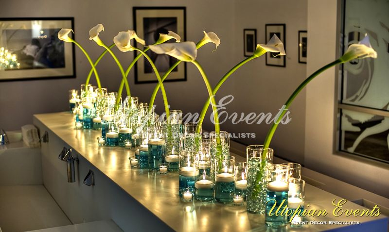 Floral Reception Decor Callalillies Candles Wedding Inspirations