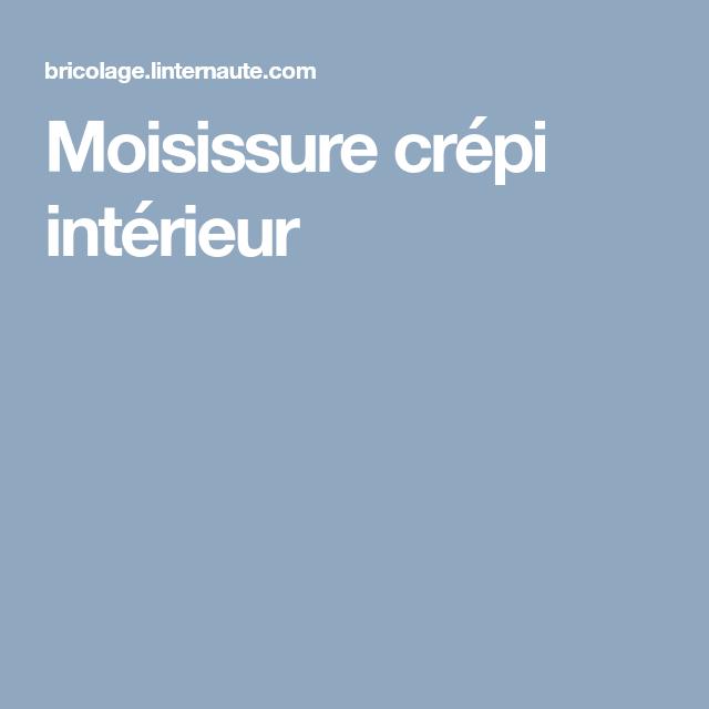Moisissure Crepi Interieur Crepi Interieur Moisissure Taches