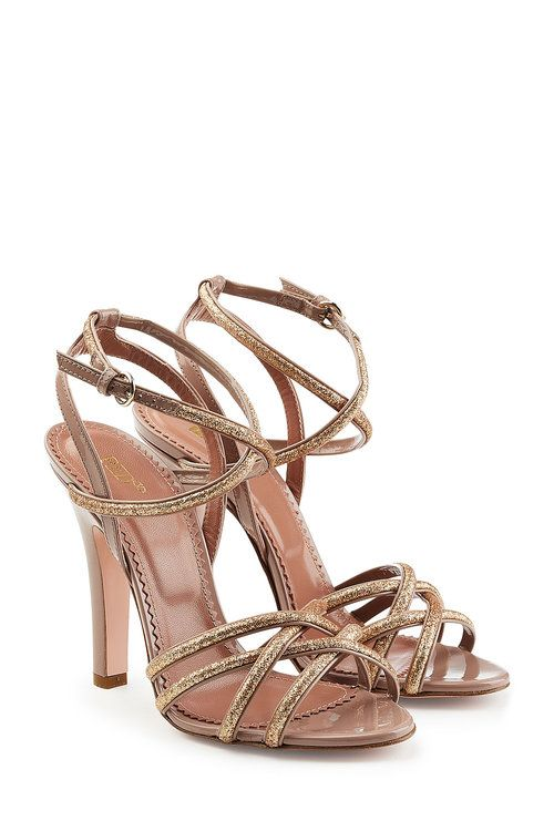 c725c6a925b2 RED VALENTINO Leather Strappy Sandal Heels.  redvalentino  shoes   Strappy Sandals  Heels