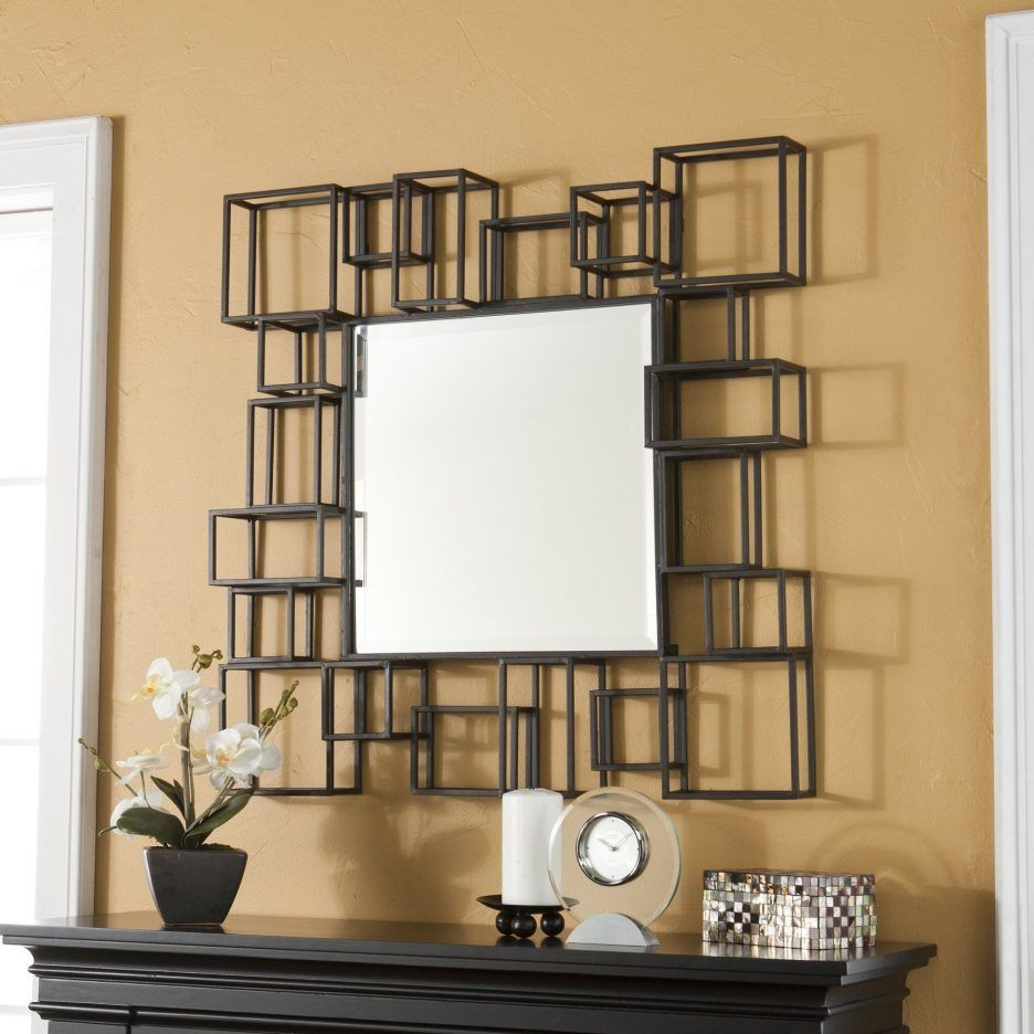 Square Mirror Wall Decor Ideas