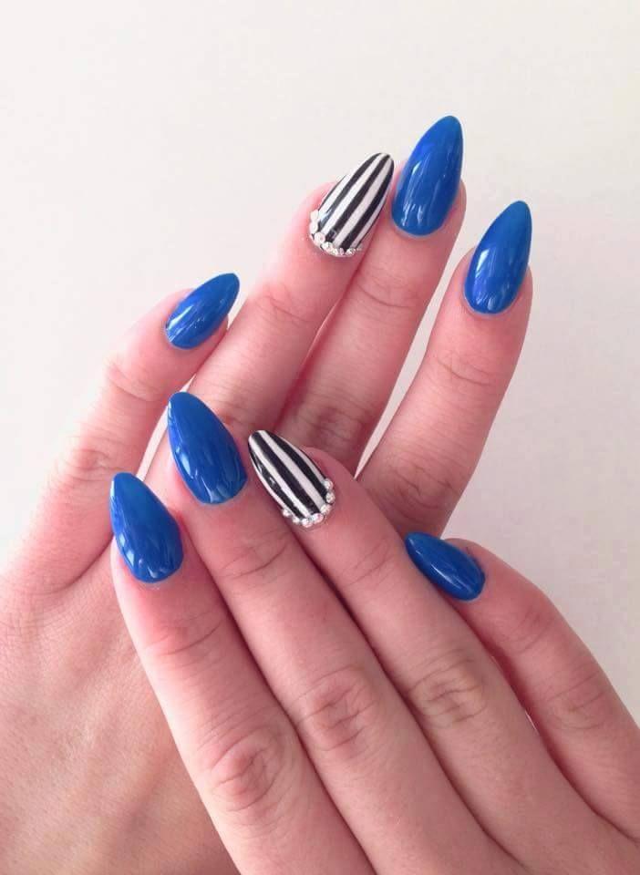 Neon Blue ( video ) | indigo labs nails veneto | nailed | Pinterest ...