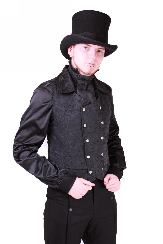 Gilet Homme Gothique Steampunk Victorien Brocard Plus