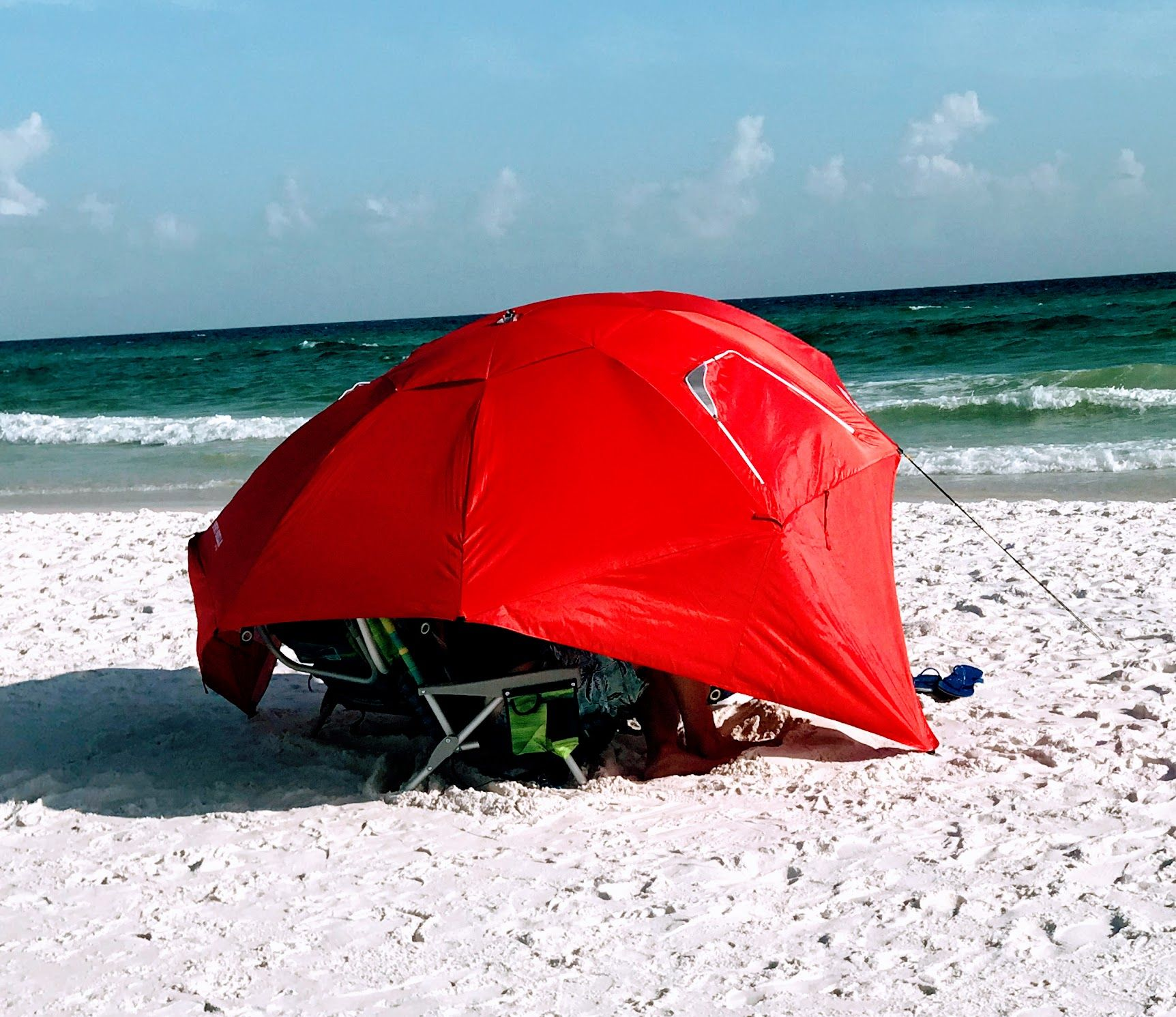 Beach Umbrella Tent For All Day Shade