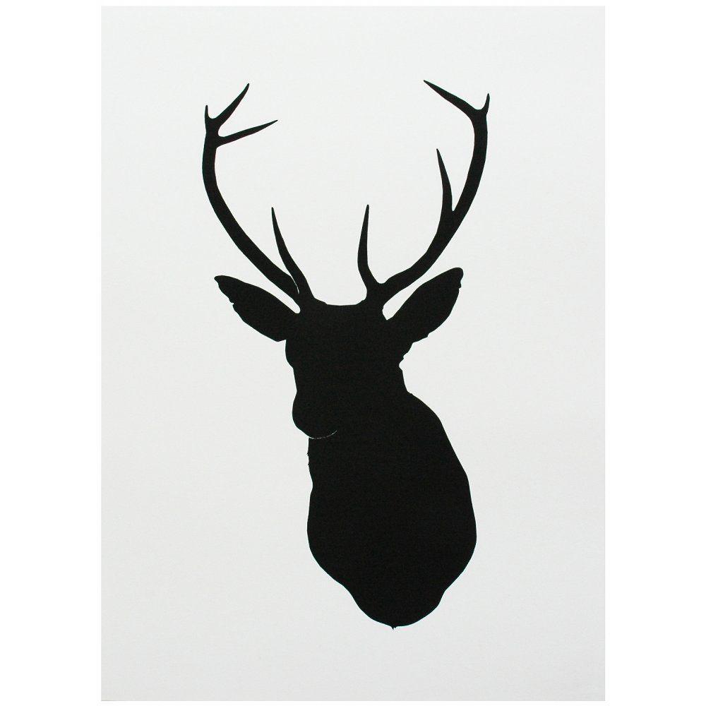 projects ideas dear head. Deer Head Silhouette Stencil  t Goorhuis Pinterest Stag head