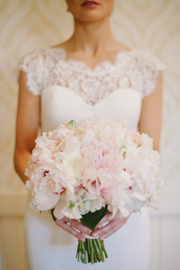 Blush Pink Peony Ranunculus And Sweet Pea Bouquet From Southern