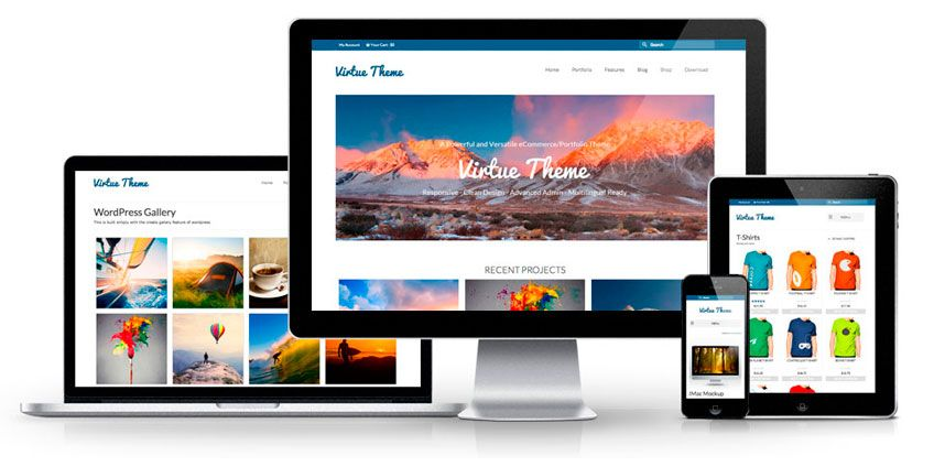 Virtue Free Wordpress Theme by | Free y Encontrado