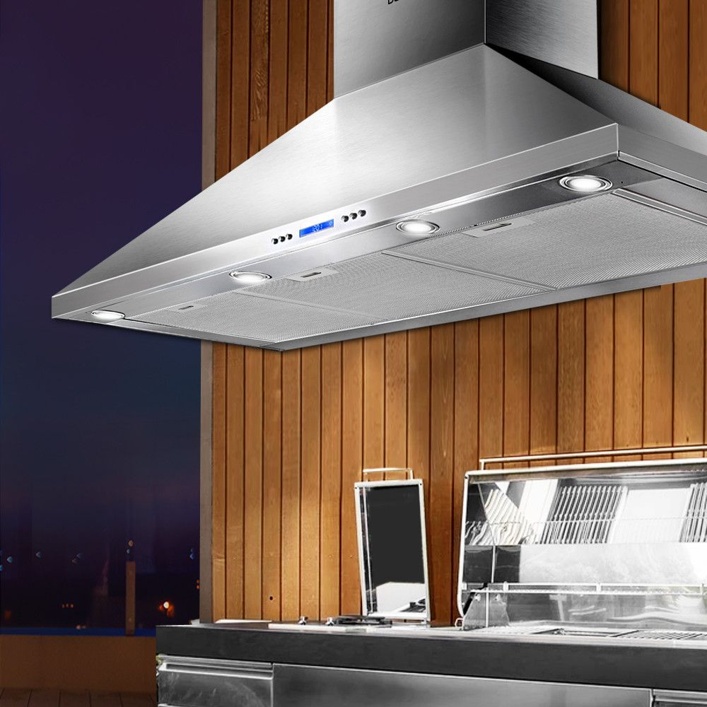 Devanti 1200mm Commercial BBQ Rangehood Silver in 2020
