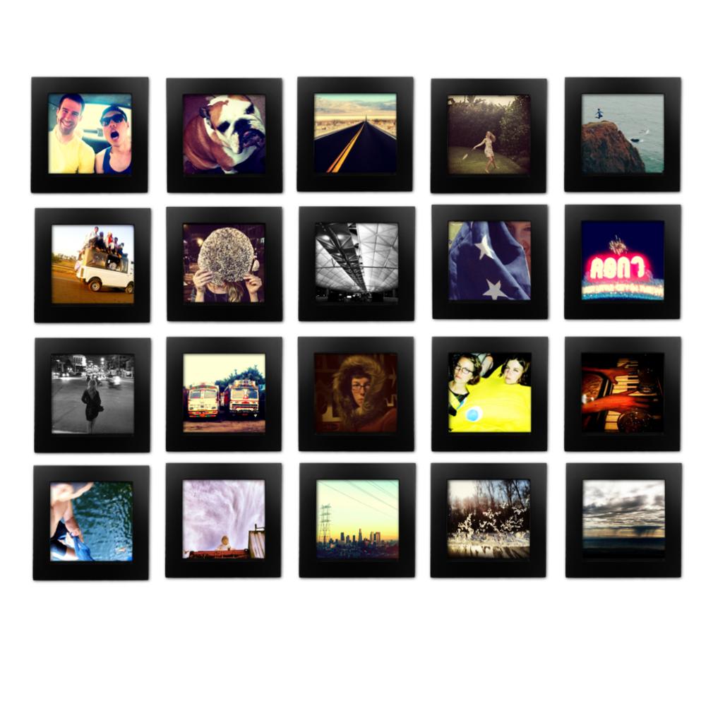 20 Pack Black 4x4 Photo Frame 4x4 Photo Frame Gallery Wall