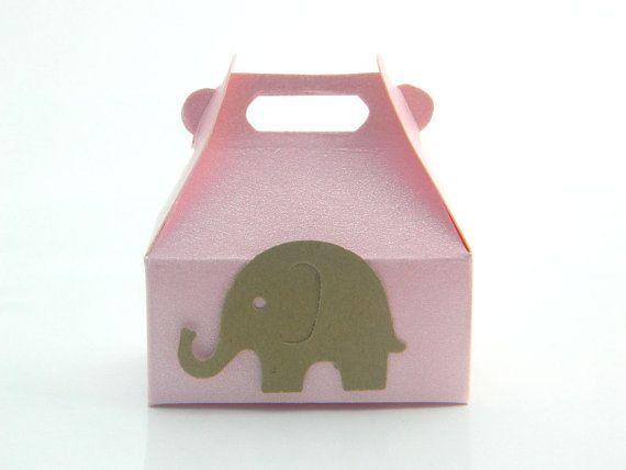 Jewelry Gift Wrap Box  Elephant BabyShower Favor by sobresitos, $1.85
