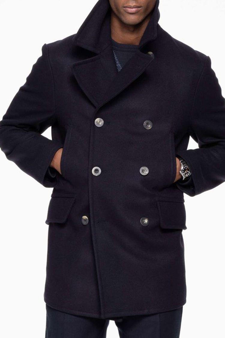 delicate colors modern techniques really cheap Brunello Cucinelli Cashmere Peacoat for Men | Winter Fashion ...
