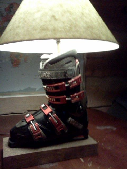 Ski Boot Lamp Ski Decor Ski Lodge Decor Lodge Decor
