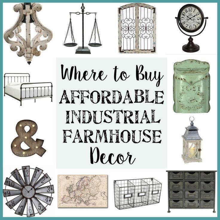 Where to Buy Affordable Industrial Farmhouse Decor - Bless'er House #industrialfarmhouse