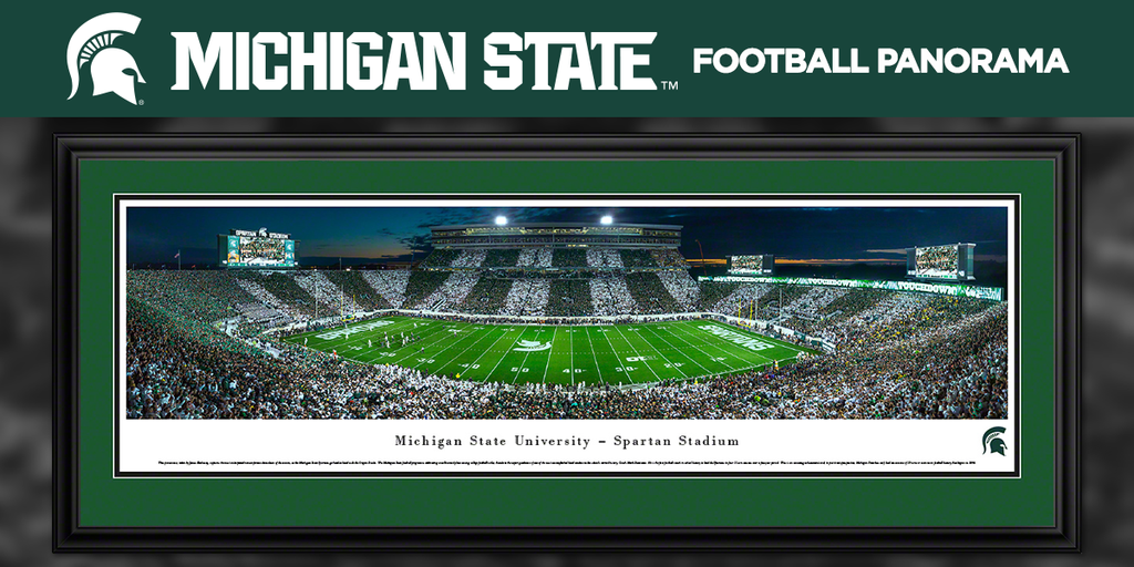 """Spartan Football on Twitter: """"Relive the excitement of Spartan Stadium with this panorama shot last night. #StripeTheStadium http://t.co/dla6mlLs3x http://t.co/UQuw8ceytE"""""""