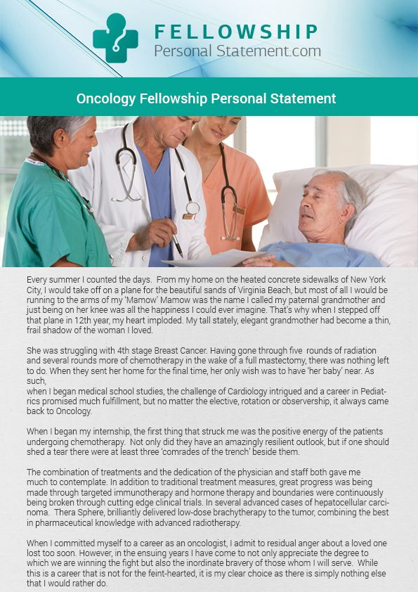 Pin by Fellowship personal statement on Oncology fellowship