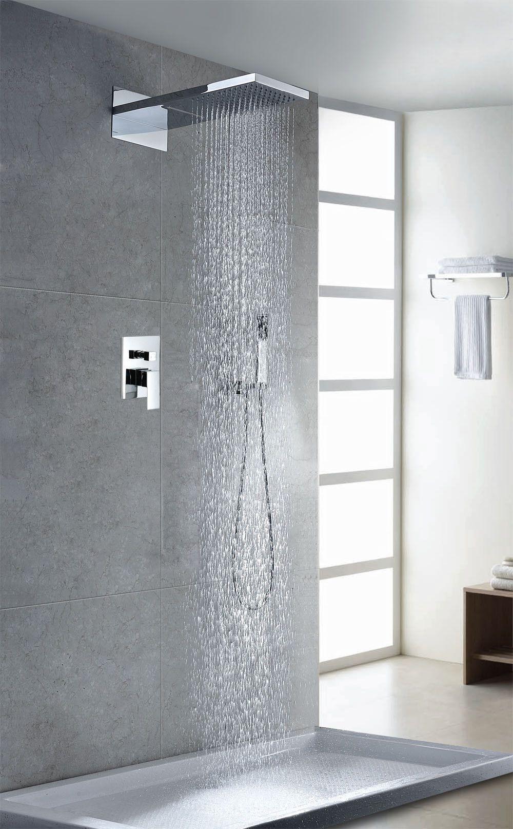 Contemporary Modern Volume Control Rain Shower Head