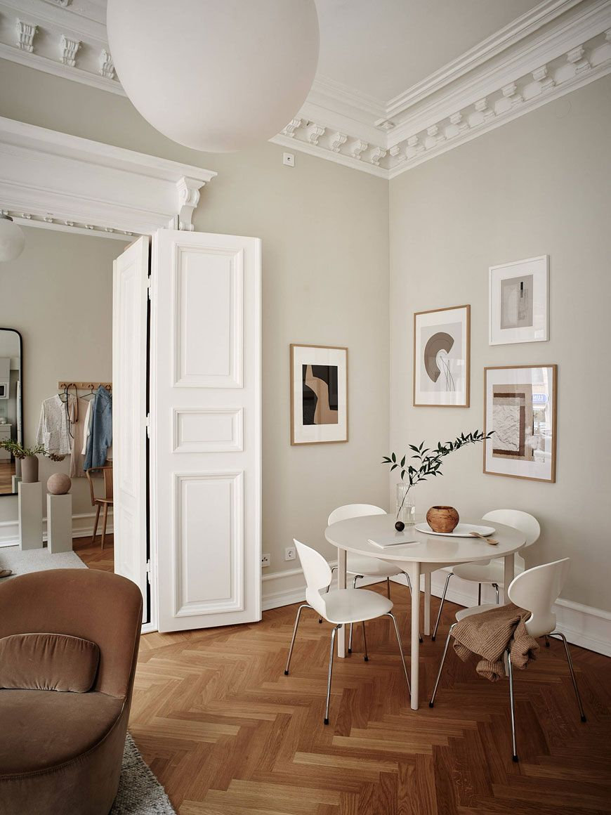 A Characterful Gothenburg Apartment in Warm Neutral Tones - Curate & Display - Nordic Interiors and