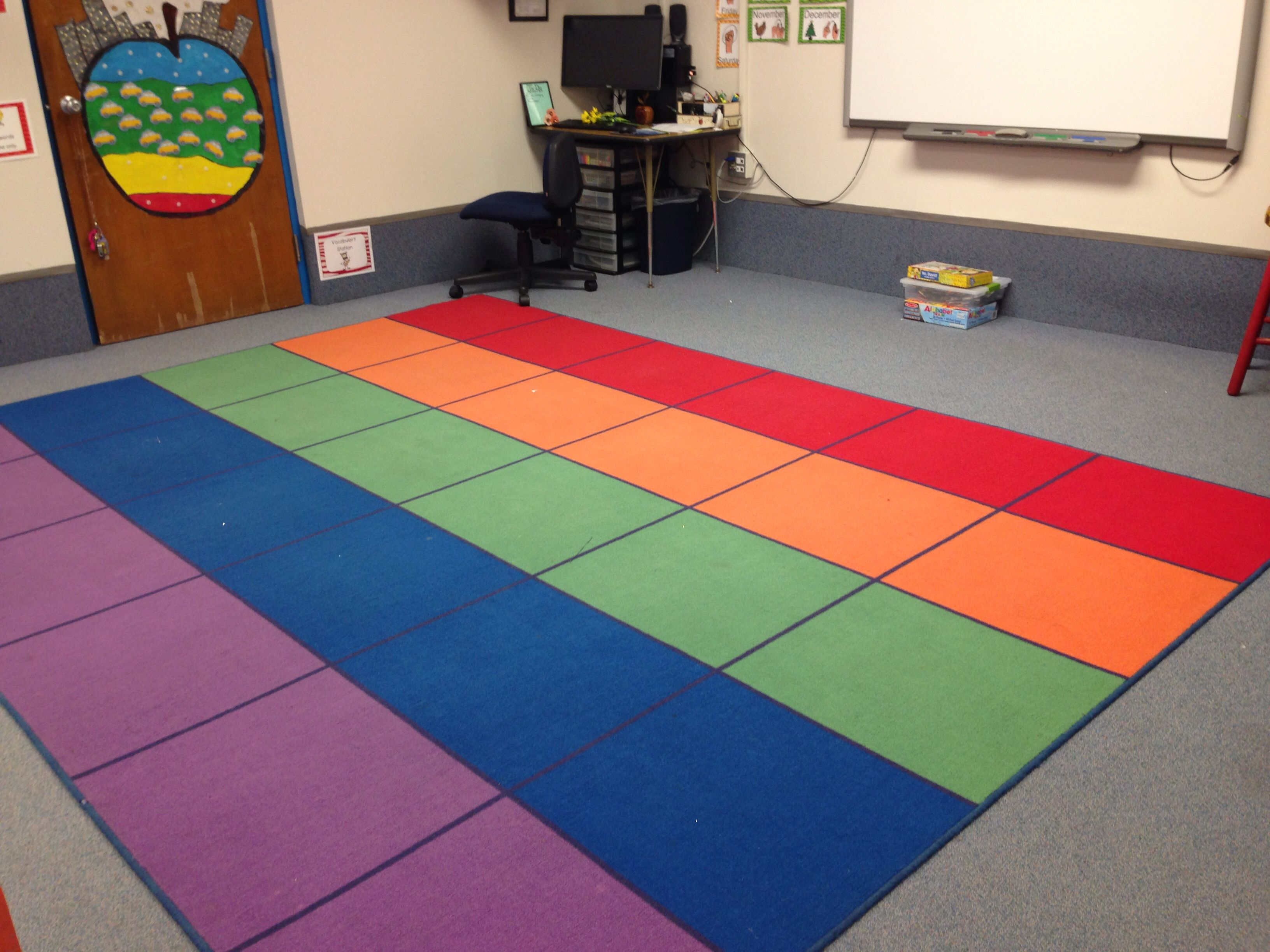 Rainbow Square Carpet From Lakeshore Ideas From