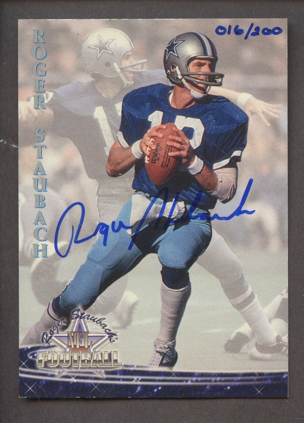 2000 Upper Deck Legends #16 Roger Staubach Dallas Cowboys Fútbol Tarjeta