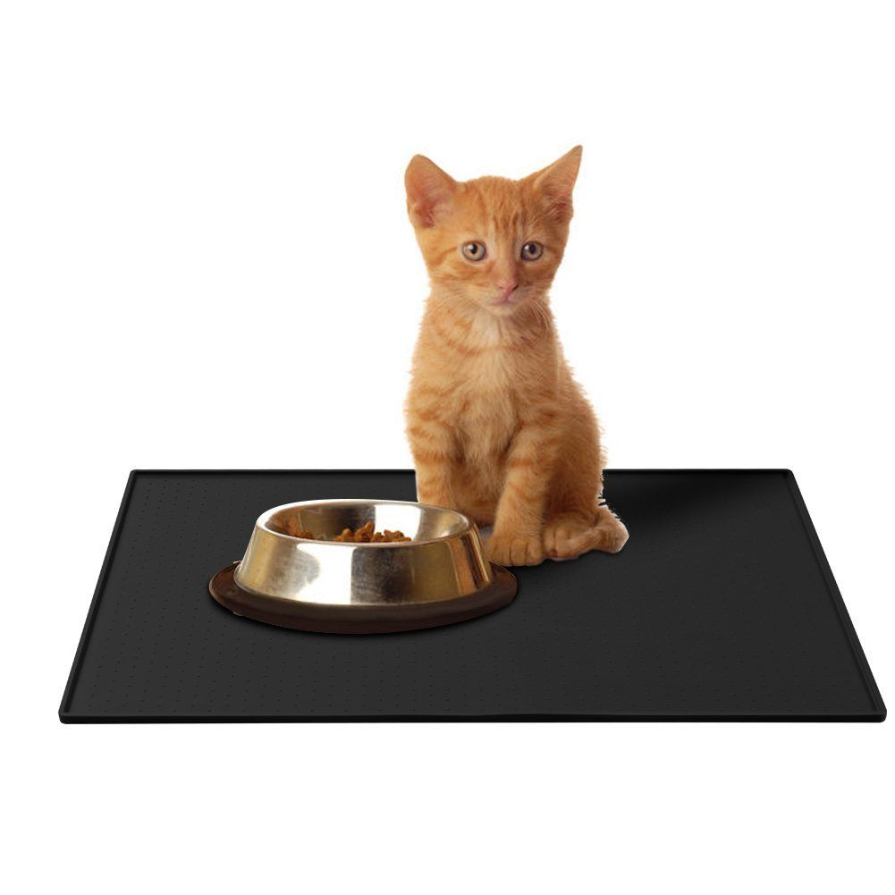 Parsion pet food matpet bowl placemat square silicone