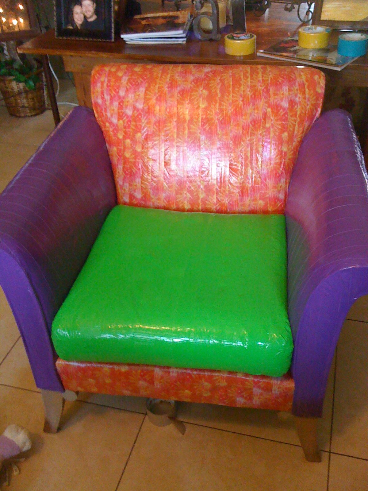 duct tape furniture. Another Duck Tape Chair. Duct Furniture
