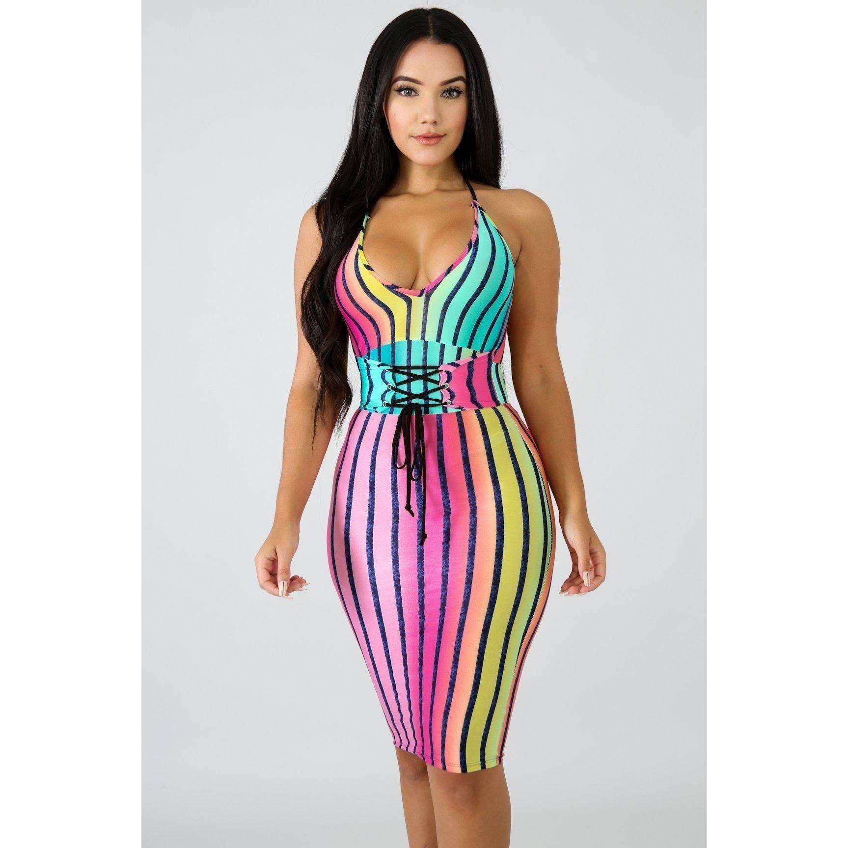2a900513b947e Kelis Color Trim Bodycon Dress in 2018
