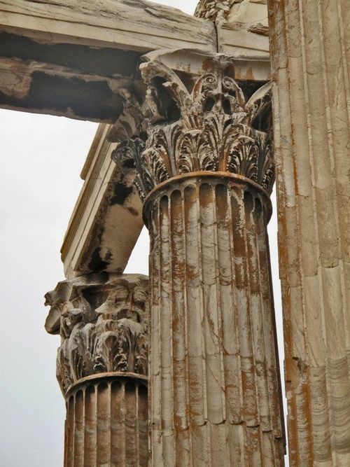 talk about detail the architectural features of ancient ruins never