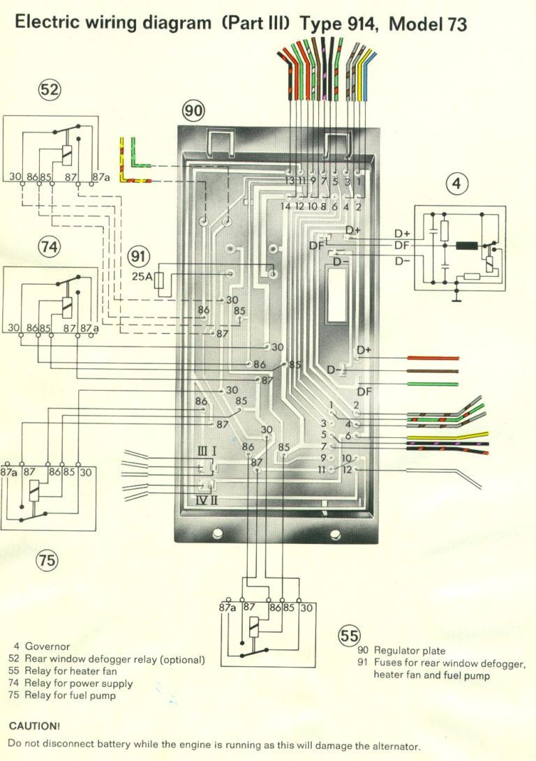 Porsche 914 Wiring Diagram Diagrams Schematics Also Daigram With