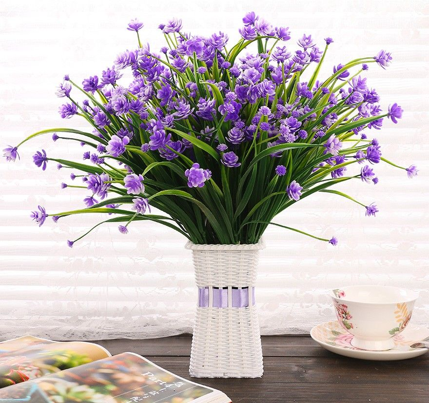 Wedding Flowers On A Budget Uk: 2pcs/lot Real Touch Decorative Artificial Flowers Cheap