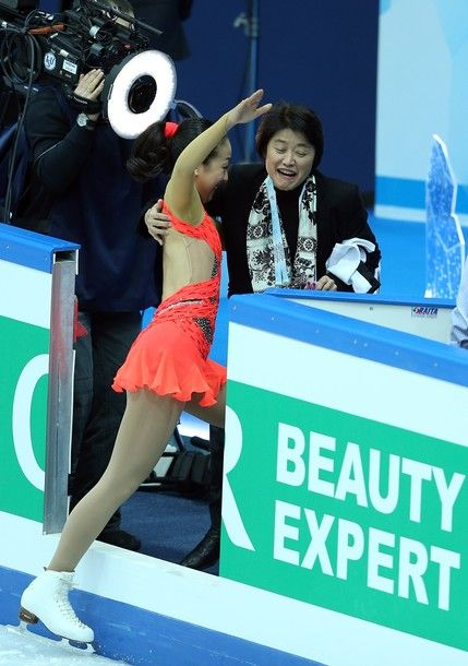 SOCHI, RUSSIA - DECEMBER 07:  Mao Asada of Japan almost falls after her performance in the Ladies Short Program during the Grand Prix of Figure Skating Final 2012 at the Iceberg Skating Palace on December 7, 2012 in Sochi, Russia.
