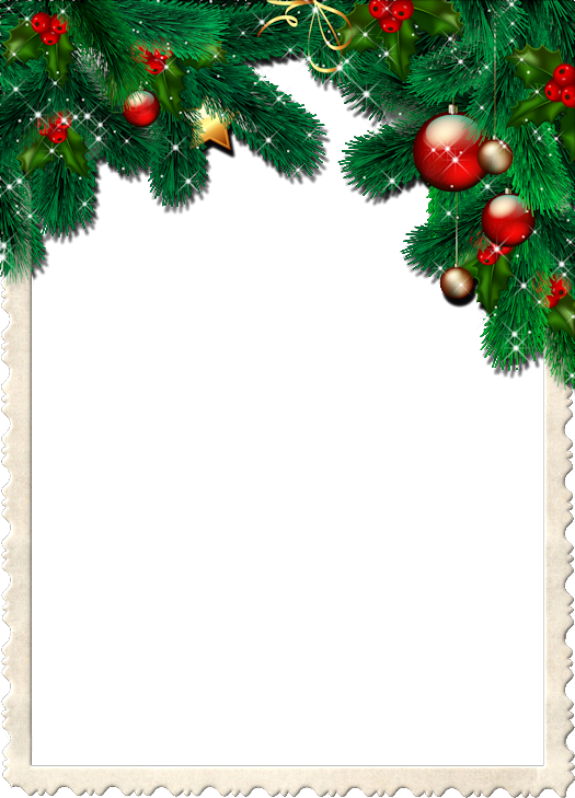 Christmas Transparent Frame With Pine Branches Gallery Yopriceville High Quality Images And Tran Christmas Stationary Christmas Frames Calendar Printables