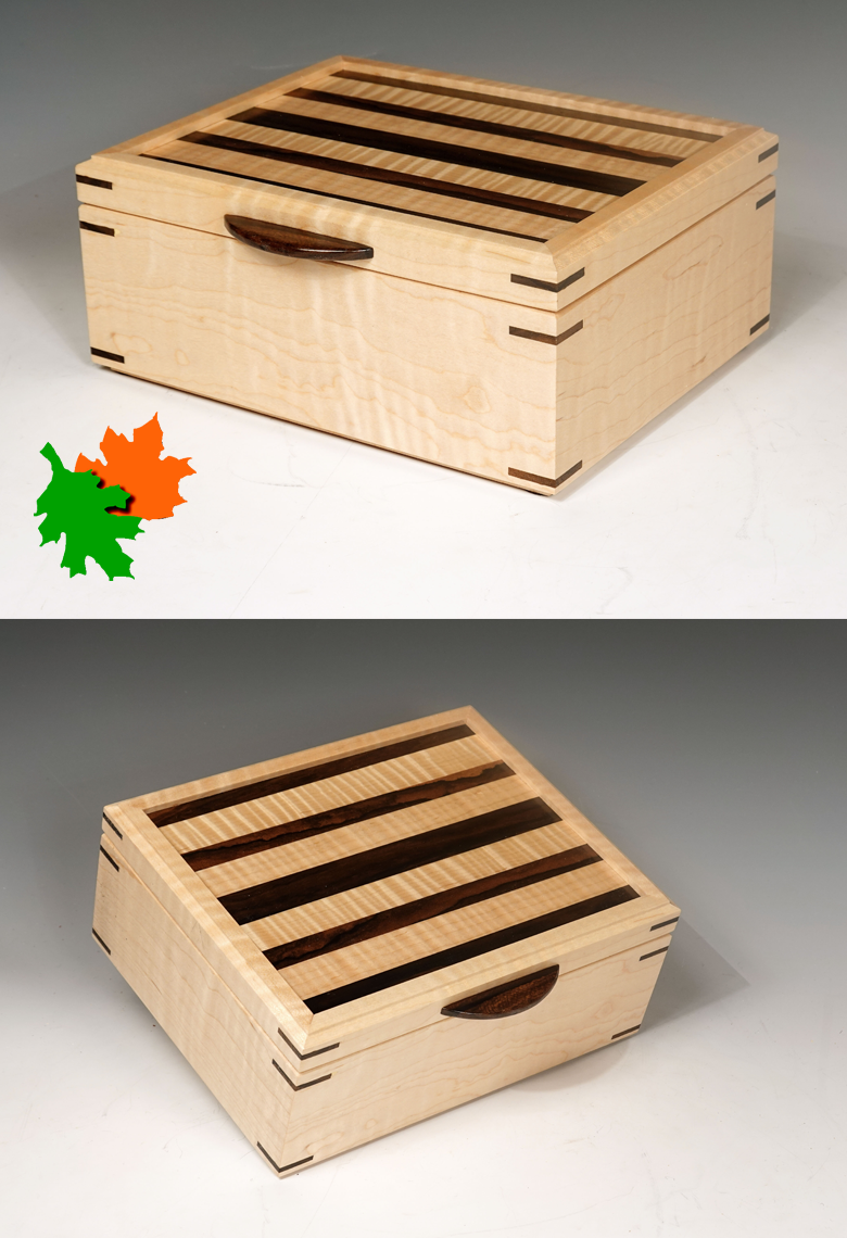 Tiger Maple custom jewelry box keepsake box in 2020