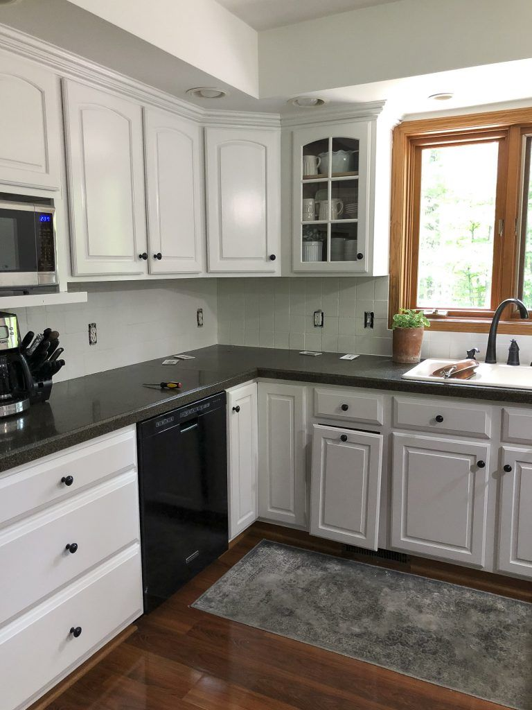 How to Paint a Tile Backsplash: Kitchen Renovation ...