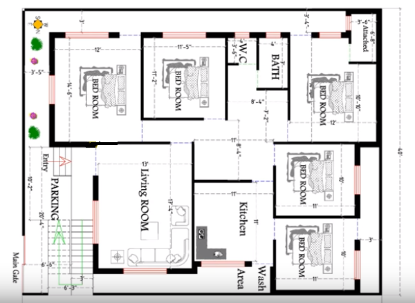 House Plans For 40 X 50 Feet Plot Decorchamp In 2020 House Plans How To Plan Best House Plans