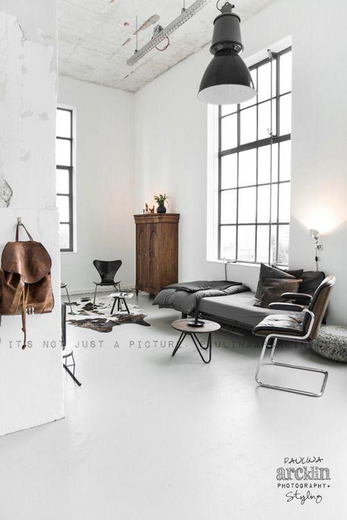 Scandinavisch-industrieel-interieur-industriële-woonkamer | Interior ...