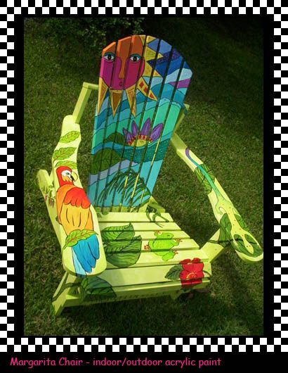 Hand-painted furniture - amazingly colourful!