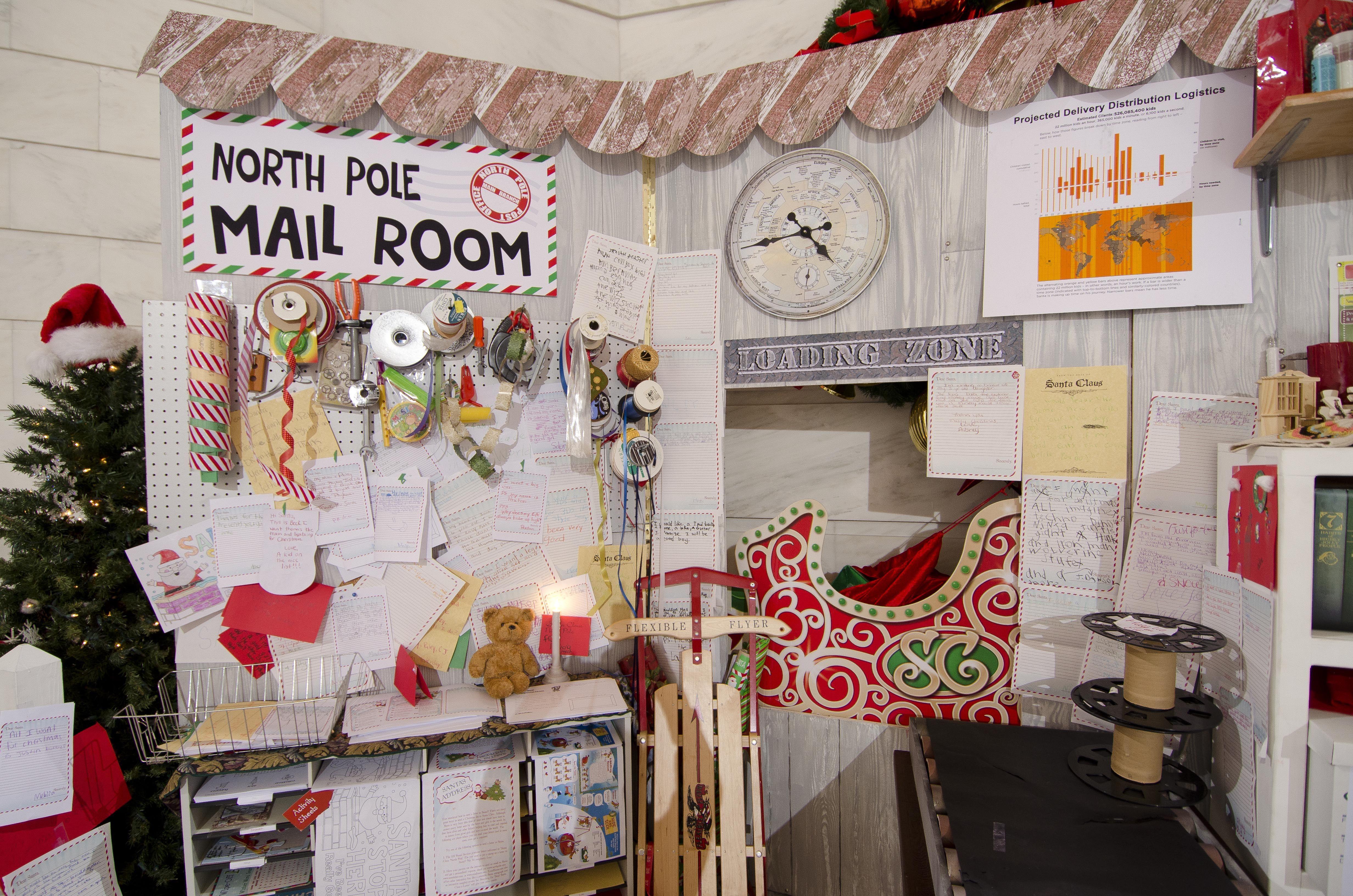 Santa S Workshop 2012 Conveyer Belt Mail Room And Tools