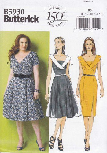Butterick Sewing Pattern 5930 Womens Plus Size 18W-24W Easy Vintage ...