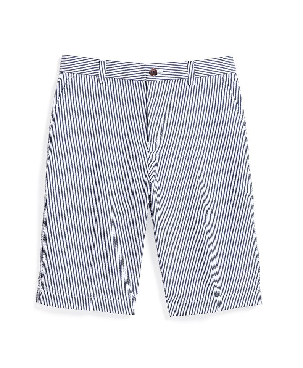 109cfdbbf3 Plain-Front Seersucker Shorts | Brooks Brothers | Get personal ...